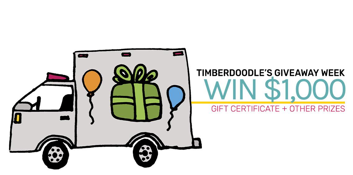 Timbedoodle $1,000 Giveaway